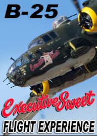 Fly aboard a real WW2 era B-25J Mitchell Bomber.