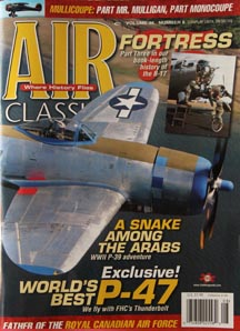 air classics magazine with P-47 Thunderbolt